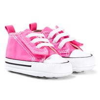 Converse Pink and White Chuck Taylor First Taylor First Star Trainers Pink/White