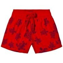Vilebrequin Red Turtle Flock Swim Shorts 201