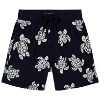 Vilebrequin Navy Glow In The Dark Turtle Print Swim Shorts 390
