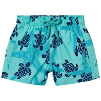 Vilebrequin Blue Starfish and Turtle Print Swim Shorts 333