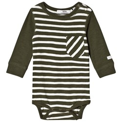 ebbe Kids Peg Baby Body Green Nature/Off White