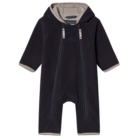 Ver de Terre Double Face Fleece Baby Coverall Navy/Mocca Navy/mocca