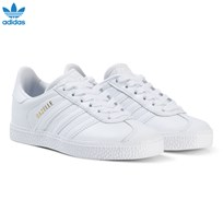 adidas Originals White Gazelle Kids Trainers FTWR WHITE/FTWR WHITE/FTWR WHITE