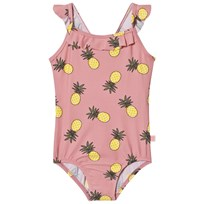 Småfolk Pink Pineapple Print Swimsuit Bridal Rose-509