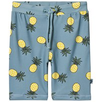 Småfolk Blue Pineapple Print Swimming Shorts Stone Blue-708