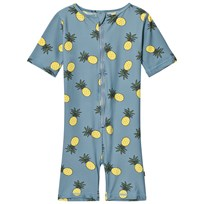 Småfolk Blue Pineapple Print Swimsuit Stone Blue-708