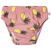 Småfolk Pink Pineapple Print Swim Trunks Bridal Rose-509
