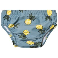 Småfolk Blue Pineapple Print Diaper Swim Pants Stone Blue-708