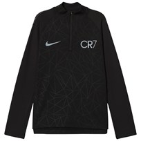 NIKE Black CR7 Dry Squad Drill Top BLACK/BLUE TINT/LT ARMORY BLUE