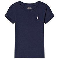 Ralph Lauren Navy Short Sleeve Tee with PP Marinblå