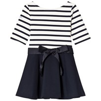 Ralph Lauren White and Navy Stripe Dress Aviator Navy/Nevis