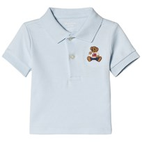 Ralph Lauren Blue Bear Embroidered Polo BERYL BLUE