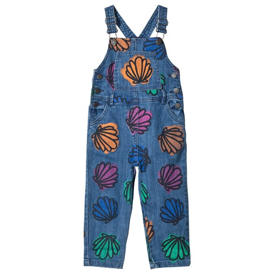 Stella McCartney Kids Mid Wash Shell Print and Sequin Rudy Dungarees 4268