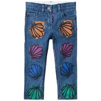 Stella McCartney Kids Multicolor Shells Patch Lohan Jeans 4268