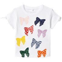 Stella McCartney Kids Grey Dorine Bow Tee White 9082
