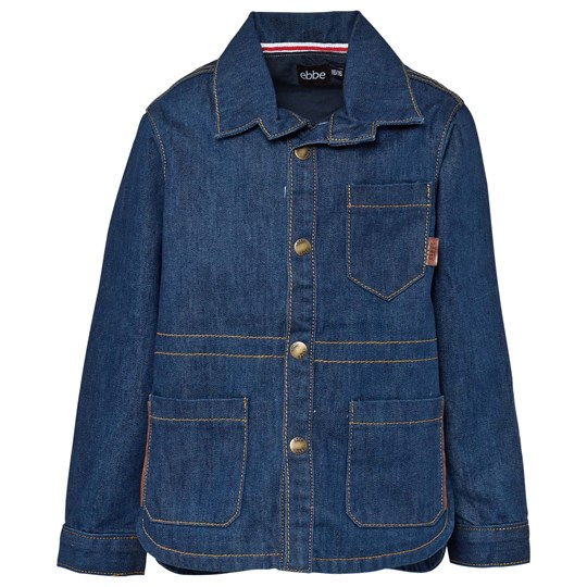ebbe Kids Nils Bruket Denim Jkt Dark Blue Denim Rinse Wash Blå