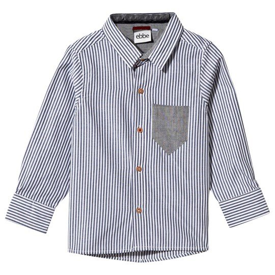 ebbe Kids Hasse Shirt Blue/White Stripe Blue/white stripe