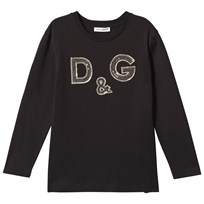 Dolce & Gabbana Black D&G Sequin Long Sleeve Tee N0000