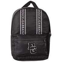 Dolce & Gabbana Black Branded and Applique Backpack 80999