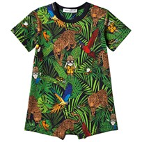 Dolce & Gabbana Dolce & Gabbana Cartoon Jungle Print Romper HBI99