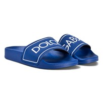 Dolce & Gabbana Blue Branded Slides 8D600