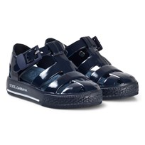 Dolce & Gabbana Navy Branded Jelly Sandals 80659