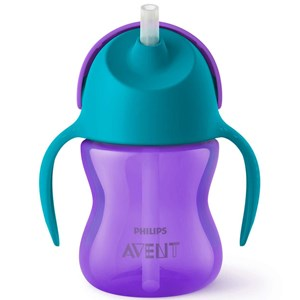Image of Philips Avent Straw Cup 9m+ 200ml Purple/Turquoise (3150382245)