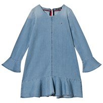 Tommy Hilfiger Blue Denim Frill Sleeve Dress 405