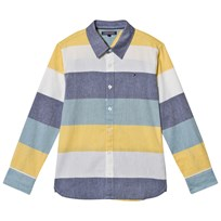 Tommy Hilfiger Blue, Yellow and White Colour Block Shirt 125