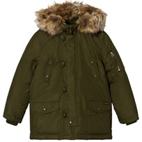 Ralph Lauren Green Hooded Down Jacket 001