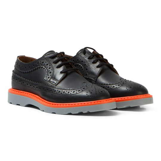 Paul Smith Junior Black Leather Brogues 02