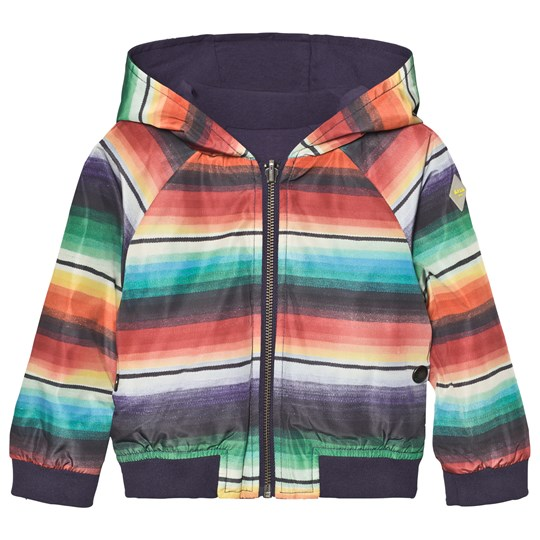 Paul Smith Junior Multi Stripe Reversible into Navy Jersey Hooded Jacket 92