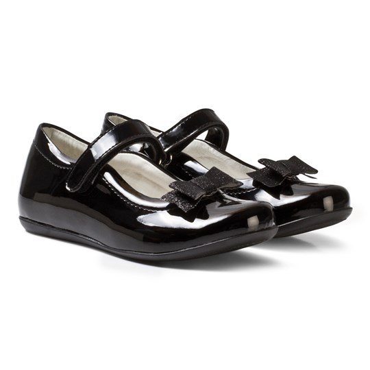 Primigi Black Patent Mary Janes with Bow Clip NERO