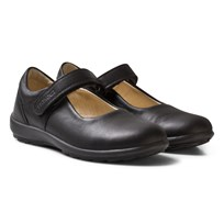 Primigi Black Leather Olea Mary Jane School Shoes NERO