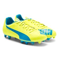 Puma evoSPEED 4.0 Firm Ground Boots 04 SAFETY YELLOW/ATOMIC BLUE/WHITE