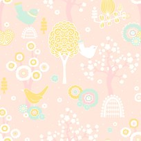 Majvillan Cherry Valley Wallpaper Pink Multi