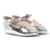 Sophia Webster Mini Bibi Butterfly Baby Silver and Rose Gold Pumps Hopea