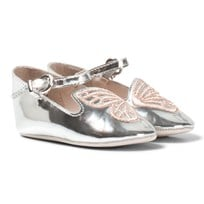 Sophia Webster Mini Bibi Butterfly Baby Silver and Rose Gold Pumps Серебряный