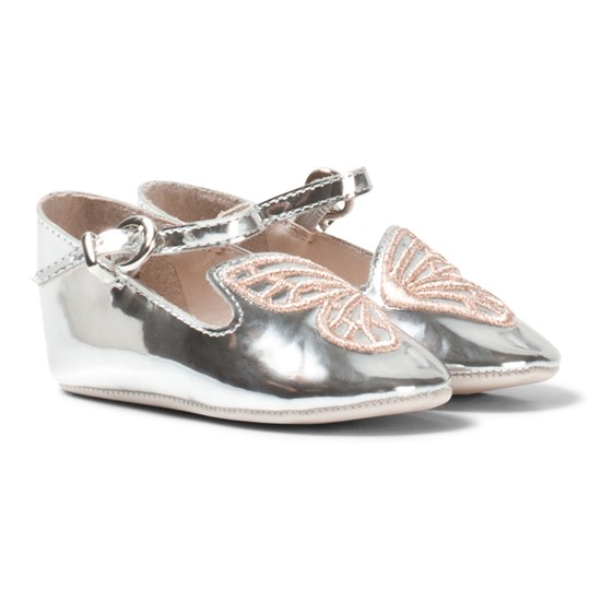 Sophia Webster Mini Bibi Butterfly Baby Silver and Rose Gold Pumps Silver