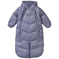 Mini A Ture Baby Blue-Grey Snowsuit Convertible Bunting FLINT STONES
