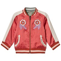 Stella McCartney Kids Willow Embroidered Vändbar Bomber Jacka Rosa 5960