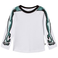 Stella McCartney Kids White Arms Print Max Tee 9082