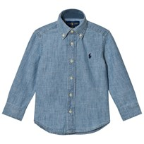 Ralph Lauren Light Blue Long Sleeve Chambray Shirt Light Blue
