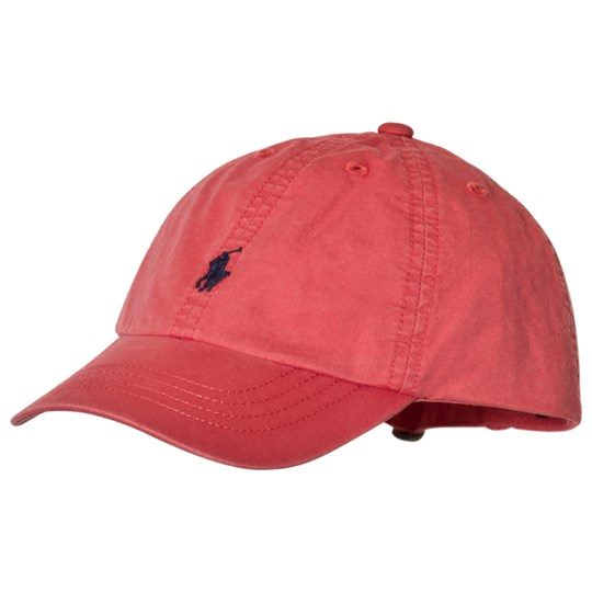 Ralph Lauren Red Classic Stretch Chino Cap Adirondack Berry