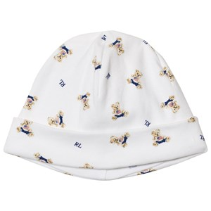 Image of Ralph Lauren White Bear Print Hat (3125337297)