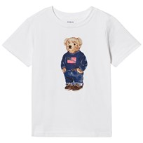 Ralph Lauren White Short Sleeve Bear Print Tee White