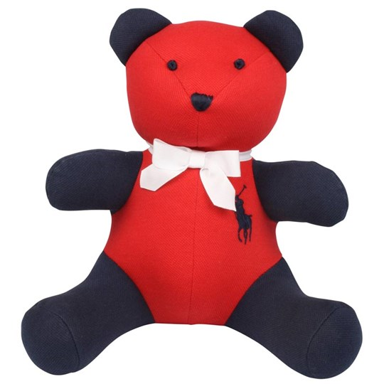Ralph Lauren Colorblocked Bear Laquer Red Red
