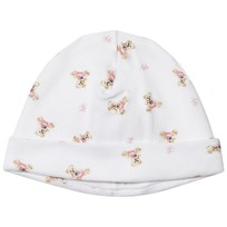Ralph Lauren White and Pink Bear Print Beanie White/Pink & Multi