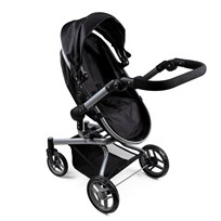 STOY Dolls Stroller 2-in-1 Black Black