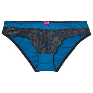 Image of You! Lingerie Amelia Panty Mykonos Blue/Black S (436682)